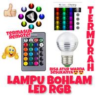 LAMPU LED RGB REMOTE BOHLAM WARNA RGB MURAH BERKUALITAS MANTAP