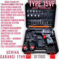 mesin bor baterai 15v bonus toolkit palu tang tool kit set uchiha