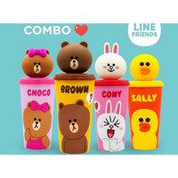 Tumbler Line Friends / Botol Minum 3D Line Friends