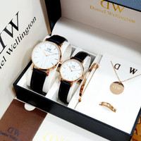 Jam tangan couple import fashion jam tangan paket set ACC D-W