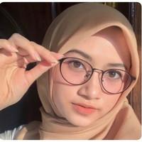 kacamata korea wanita besi gratis lensa minus plus silinder radiasi