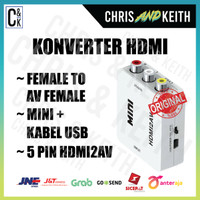 KONVERTER HDMI F TO AV F MINI + KABEL USB 5 PIN HDMI2AV