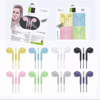 U19 macaron handsfree earphone headset matte colour macaron hifi bass