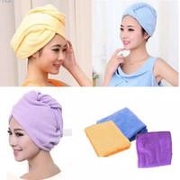 Handuk Keramas Hair Wrap Magic Towel Penyerap Air Microfiber Topi