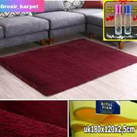 karpet bulu uk 180x120x2cm