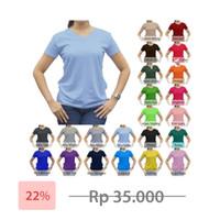 Tshirt / Kaos Polos Vneck Wanita / Cewek, Combed Murah Grosir