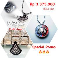 Paket Kalung Word Magic Pendant Biopendant Carbon Pendant Spiderman