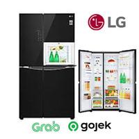 LG GCC247UGUV KULKAS SIDE BY SIDE KULKAS INVERTER