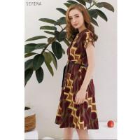 Serena Dress Jumbo - Dress Batik Jumbo Wanita Terusan Wanita
