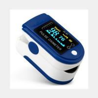 fingertip pulse oxymeter spo2 alat pengukur detak jantung - Blue
