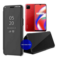 Flip Case Realme C12 Clear View Mirror standing Cover