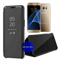 Clear View Standing Cover Samsung Galaxy S7 Edge S7Edge Flip Case