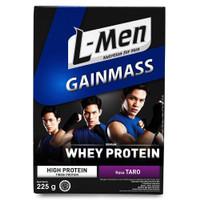 L-Men Gain Mass Taro 225gr Susu Tinggi Whey Protein Lmen Gainmass