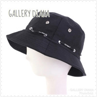 Topi Bucket Hat Pria Dan Wanita - Black /Hitam - maroon