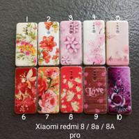 Case gambar Xiaomi Redmi 8 8A 8A pro motif cewek glitter flower soft