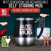 AUTO MAGNETIC MUG 400ml USB Rechargeable Self Stirring Thermos Cup