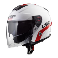 Helm Ls2 OF 521 INFINITY SMART WHITE RED