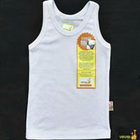 VELVET JUNIOR Singlet (0-12 M) / Kaos Dalam Putih Bayi / Baju Bayi - S 3-6bln