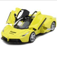 Diecast miniatur mobil Ferrari Laferrari 1:32 kualitas premium