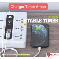 SOHA BKL-11 Stop Kontak Pakai Waktu / Power Socket USB TYPE C Timer