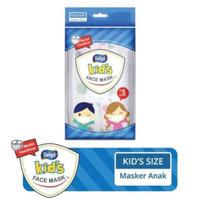 MASKER SENSI ANAK HEADLOOP KIDS FACE MASK ISI 5 PCS