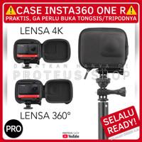 ✅ HARD CASE PELINDUNG ACTION CAM INSTA360 TAS BAG POUCH - LENSA 4K