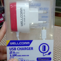 charger wellcomm output 2,1a original