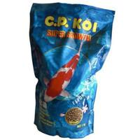 C.P Koi Super Growth Medium (5mm) 1kg Pelet Makanan Pakan Ikan Koi