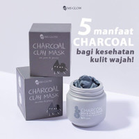 MS GLOW Charcoal Pore Clay Mask Free Pouch