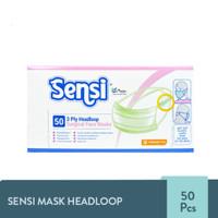 SENSI MASK HEADLOOP 1 BOX ISI 50PCS - MASKER SENSI HIJAB