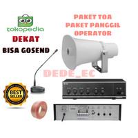 Paket Speaker Operator panggil/paketan Toa(original)