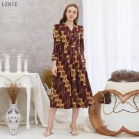 Lenie Dress Jumbo - Dress Batik Jumbo Wanita Terusan Wanita