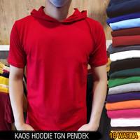 Kaos polos hoodie pria wanita 24s lengan pendek & lengan panjang - S, Kaoshodie Pajng