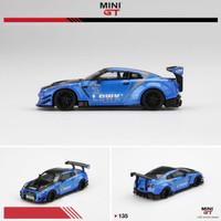 Mini GT 1/64 LB WORKS Nissan GT-R (R35) Blue LB Work Livery 2.0