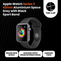 Apple Watch Series 3 GPS 42mm Alum Space Grey with Black Sport Band