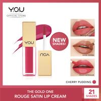 YOU Rouge Velvet Matte Lip Cream & Rouge Satin Lip Cream - Satin Cherry