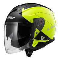 Helm LS2 OF521 INFINITY BEYOND BLACK HI-VIS