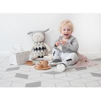 Little Wiwa Play Mat, Size Små : 1.0 m x 1.4 m (Labyrint Grey)