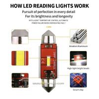 Lampu LED Kabin Plafon 39 mm CHIPSET 1680 Ekstrim Terang Mobil