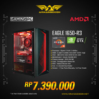 Armaggeddon PC Gaming EAGLE 1650-R3 + VGA MSI GTX 1650 VENTUS XS
