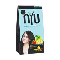 NYU Creme Hair Colour Natural Black Pewarna Semir Rambut