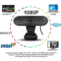 Webcam 1080P Full HD Built in Mic Web Cam Camera Live Video PC Laptop