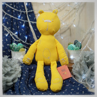 FREE CUSTOM NAMA BONEKA BEAR IMPORT MAINAN ANAK ❤❤❤ - Yellow Bear