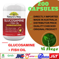 NATURES WAY GLUCOSAMINE + FISH OIL 200capsules