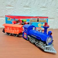 Mainan Anak Kereta Cargo Ada Lampu dan Suara