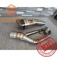 Knalpot R9 H2 motor matic AEROX ADV NMAX PCX BEAT VARIO SCOOPY dll