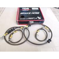 BRAKE HOSE SELANG REM TDR BLACK CARBON SET PCX 150 LOKAL ADV 150 ABS
