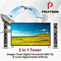POLYTRON 50 inch DIGITAL LED FULL HD TV With Speaker Tower - 50TS883