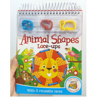 Animals Shapes Lace-ups with 3 Reusable Laces (Easy-to-use Stand-up