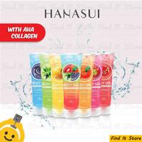 Hanasui Body Spa Exfoliating Gel AHA Collagen 300ml Perontok Daki